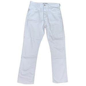 Zara Women's Straight Leg White Jeans Size 6